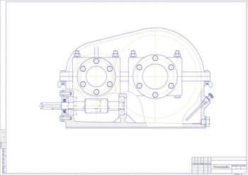 5.Чертеж миллиметровки редуктора, с указанием размеров (формат А1)