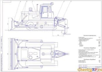 Общий бульдозера-рыхлителя с техническими характеристиками