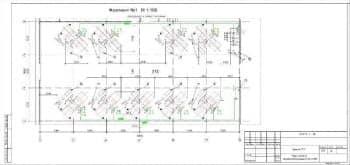 5.Чертеж плана силового электрооборудования здания СТО на отметке 0.000 в масштабе 1:100