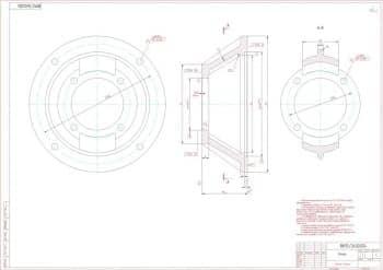 5.Рабочий чертеж детали фонарь в масштабе 1:1