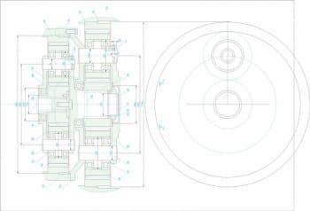 5.Сборочный чертеж органа с указанием размеров (формат А1)