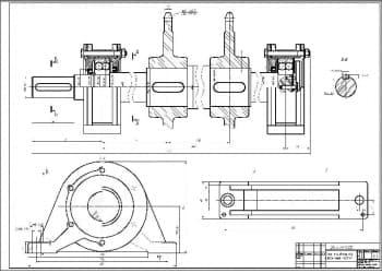 5.Сборочный чертеж вала приводного в масштабе 1:1, с проставлением размерности (формат А1)