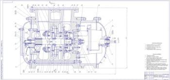 Комплект рабочих сборочных чертежей центробежного турбокомпрессора ТХМВ-2000