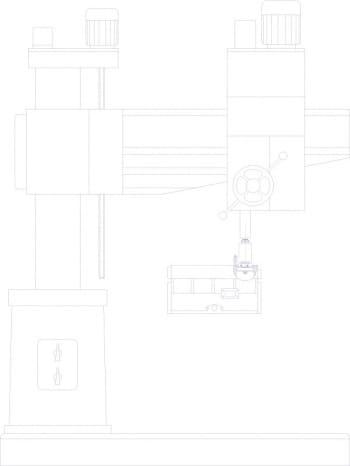 Эскизный набросок общего вида расточного станка