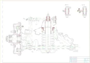 5.Схематичный чертеж задней подвески легкового автомобиля ГАЗ-3102  (формат А1)