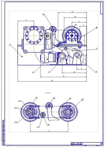 5.Сборочный чертеж механизма (формат А1)