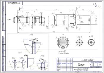 5.Шток – деталь конструкции (формат А3)