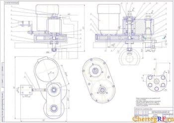 Чертежи автомата для изготовления букс: центровочная, сверлильная, фрезерная, резьбонарезная головки