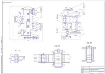 Конструкция захватного устройства – харвестерной головки для заготовки леса по сортиментной технологии