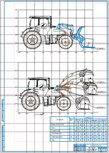 5.Схема действия навесного оборудования с клещевым захватом (А1)