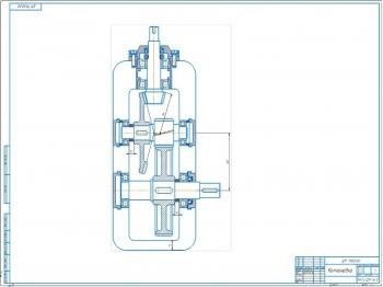 5.Компоновочный чертеж привода ленточного конвейера