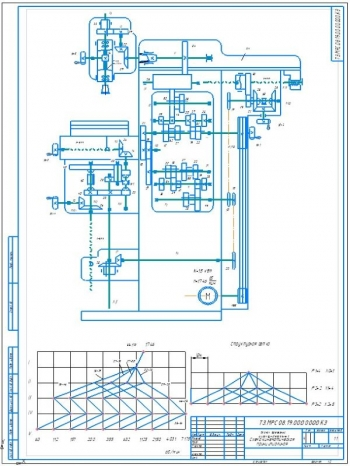 5.Схема кинематическая принципиальная А2 со структурной сеткой