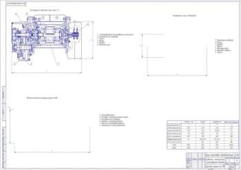 Чертеж сравнение электротали крана мостового однобалочного с существующими аналогами с указанием сравнительных характеристик  (формат А1)