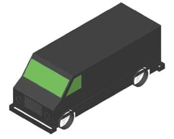 5.Чертеж вида общего автомобиля грузового в 3D формате