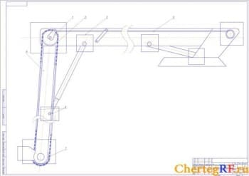сборочный чертеж стрела вспомогательная (формат А1)