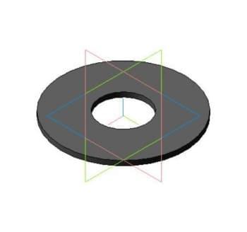 Чертеж модели 3d деталь шайбы