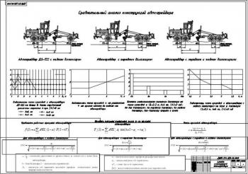 6.Сравнительный анализ конструкций автогрейдера с расчетами различных параметров А1
