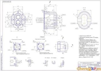 детали корпус с техническими требованиями: литье в кокиль