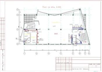 6.Чертеж плана вентиляции на отметке 6.600 с указанием основных размеров конструкции (формат А3)
