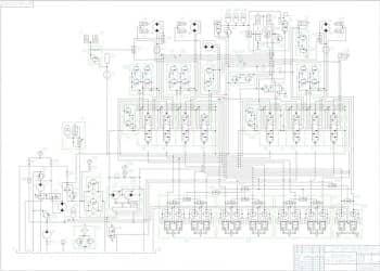 6.Чертеж гидравлической схемы экскаватора (формат А1)