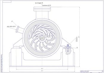 6.Чертеж СБ центробежного компрессора с техническими размерами (формат А1)