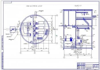 6.Сборочный чертеж канализационной насосной станции на формате А1