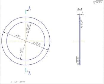 6.Опорная плита – чертеж детали (формат А3)
