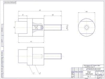 Сборочный чертеж детали опоры подъемника.