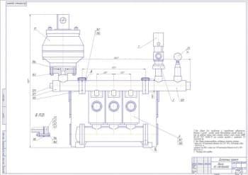Набор чертежей приспособления на станок ИС-800 и 6м-810, коллектор с разработкой сборочных и деталей
