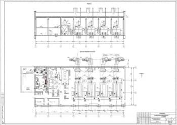 6.Чертеж разреза 2-2 и компоновки оборудования котельной, с указанием размеров (формат А1)