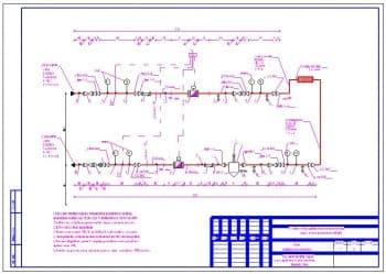 6.Чертеж узла учета тепловой энергии и узла управления системы отопления третьего этажа с техническими требованиями
