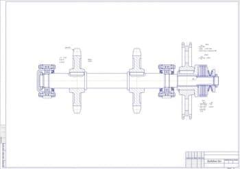 6.Чертеж сборочный приводного вала с указанием всех деталей: цепь, шпонки, шлицы и диски (формат А1)