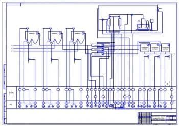 7.Схема автоматизации процесса обеззараживания воды и вторичных отстойников (формат А1)