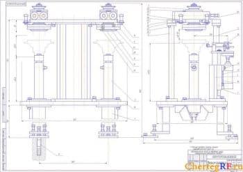 Сборочный чертеж механизма ориентации: реечные передачи смазать смазкой ЦИАТИМ-201 ГОСТ 6267-74 (формат А1)