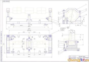8.Общий вид приспособления на станок 1)ИС-800  2)6м-810 (формат А1)