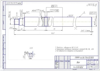 8.Рабочий чертеж вала (формат А3)