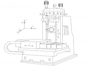 8.Эскизный чертеж станка