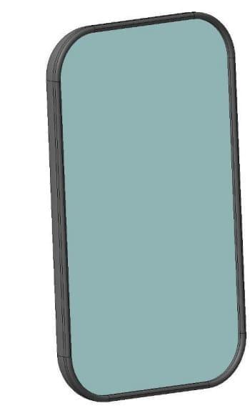 8.Деталировочный чертеж зеркала автомобиля грузового ЗИЛ-433440 в 3D формате