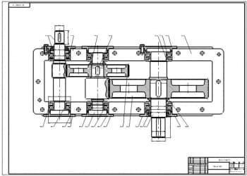 8.Чертеж СБ редуктора в масштабе 1:1, с указанием всех размеров (формат А1)