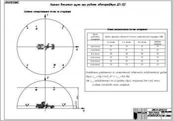 9.Оценка внешнего шума при работе автогрейдера ДЗ-122 схемой измерительных точек