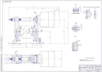 Чертеж тормоза колодочного ТКП-100 крана мостового однобалочного.