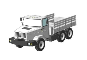 Чертеж 3D-моделирование общего вида, сборочных узлов автомобиля модели ЗИЛ 433440