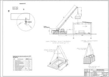 9.Чертеж технологической схемы монтажа с техническими характеристиками крана автомобильного КАТО NK-200S-IIIs