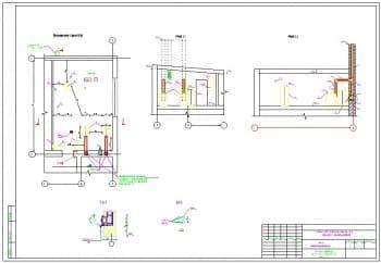 9.Чертеж расположения оборудования, фрагмента плана 1 этажа на отметке 10.500 в масштабе 1:50 и разрезов 1-1 и 2-2, с указанием отметок (формат А1)