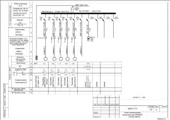 9.Чертеж схемы электрической принципиальной 380/220В (продолжение) здания СТО (формат А3)