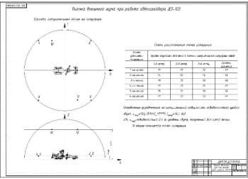 9.Чертеж оценки шума внешнего при работе автогрейдера ДЗ-122 (формат а1)