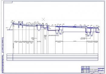 9.Лист высотной схемы движения воды (формат А1) с пояснениями и уровнями